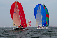 "Yachts ""Zuma"" and ""Scent"" Racing by the North Light - Block island Race Week 2013"