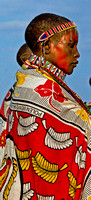 Masai Woman in Colorful Dress