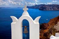 Bell Tower and view of the Caldera, Oia, Santorini