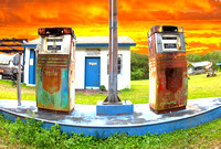"Closed ""Gone Fishin"" Gas Station, Florida (electronic)"