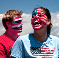 Painted Faces at July 4th Parade, Block Island, Rhode Island