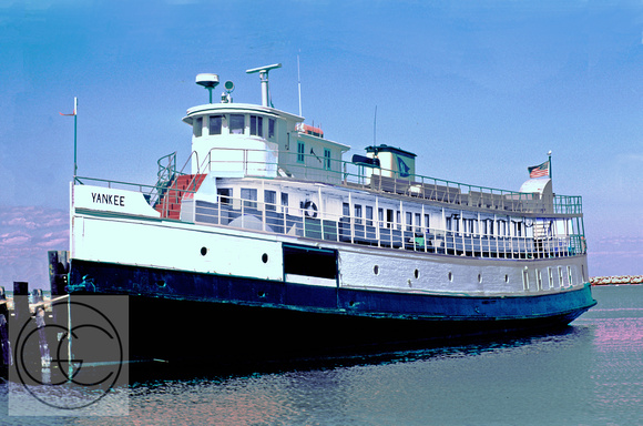 "Yesterday's Ferries: ""Yankee"" at Old Harbor (1983 photo restored electronically)"